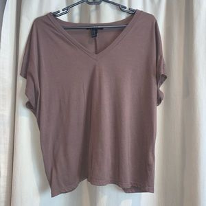 Nude V-Neck Top
